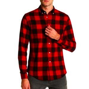Slate & Stone Red Buffalo Plaid Button Down Shirt